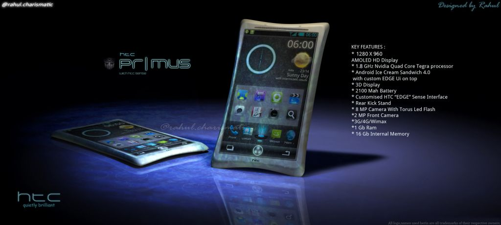 HTC Primus Concept Created by Indian Student, Inspired by Transformers 3 Movie