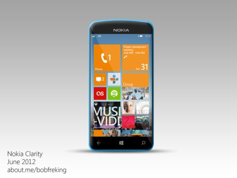 Nokia Clarity, the First Windows Phone 8 Concept Since the OS Announcement