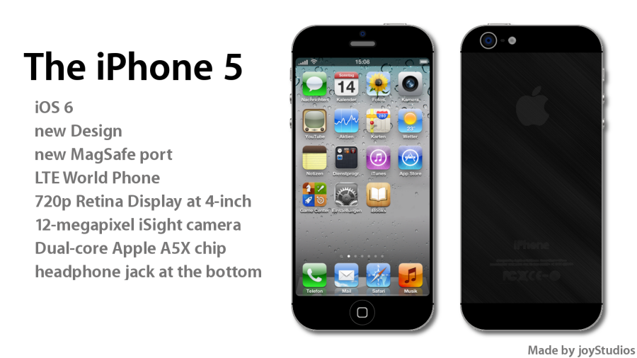 iPhone 5 Concept Made by JoyStudios Has a 4 Inch 720p Display
