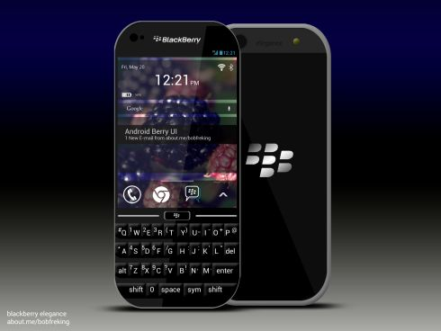 BlackBerry Elegance is an Android Smartphone With a Berry UI Skin