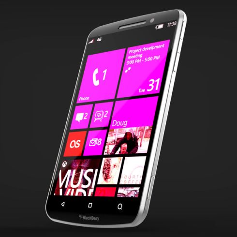 BlackBerry Windows Phone Concept Runs WP8, This is What Happen If Microsoft Buys RIM