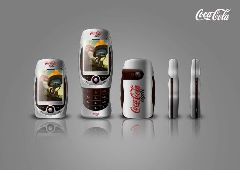 Coca Cola Concept Mobile Phone Created by David Carrillo