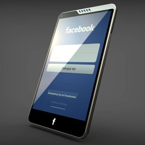 New Facebook Phone Design With HTC Traits, Imagined by Michal Bonikowski