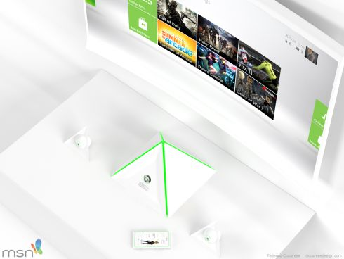 Xbox 720 Concept is a Pyramid With Two Kinect Eyes