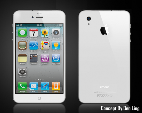 iPhone 5 With 4.8 Inch Retina Display and Quad Core CPU   Designed by Ben Ling