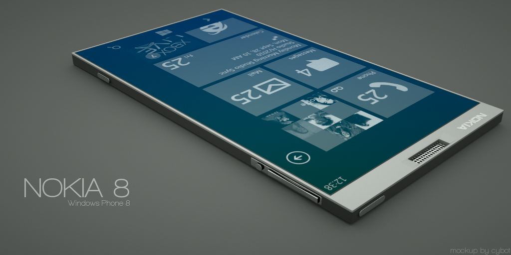 Nokia 8 Windows Phone 8 Mockup Is Big Thin Elegant