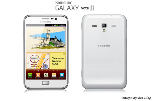 Samsung Galaxy Note II Concept by Ben Ling is Pretty Realistic Actually