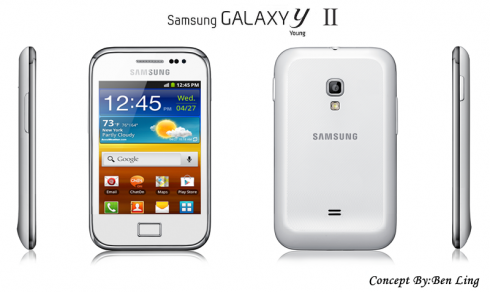 Samsung Galaxy Y II Design Created by Ben Ling