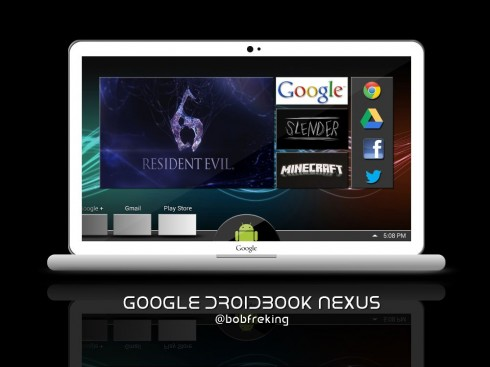 Google DroidBook Nexus Laptop By Bob Freking, the MacBook Killer