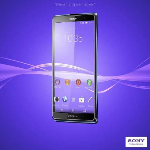 Xperia 2013 Concept Features a Bravia Transparent Screen, Designed by Jsus
