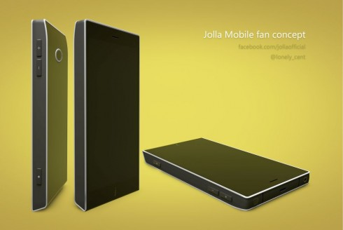 Jolla Mobile Phone Mockup Created by Mohammed Shihuzaan
