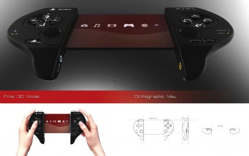 Sony PSP 2 Design Features Transparent OLED Screen, Looks Fantastic!