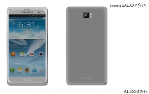 New Samsung Galaxy S4 Render by Alessio94X: All About Minimalism