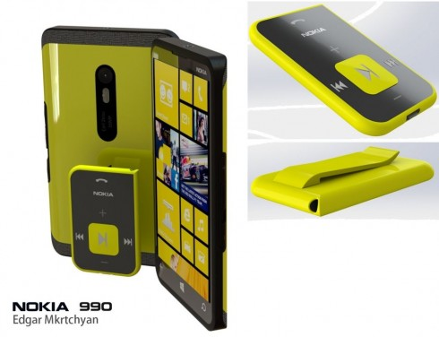 Nokia 990 Runs Windows Phone 8+ (Portico), Has a Special Music Player Accessory