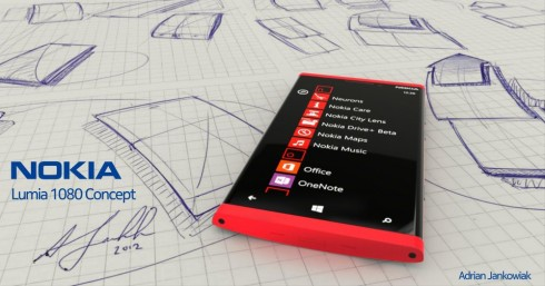Nokia Lumia 1080 Concept by Adrian Jankowiak Has a Full HD Screen
