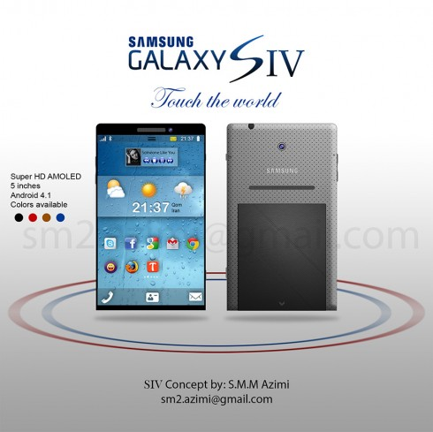 Samsung Galaxy S IV Render Almost Has No Bezel, Adopts Edge To Edge Display