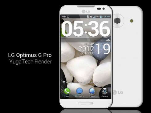 LG Optimus G Pro Gets Rendered by YugaTech, Real Specs Already Leaked