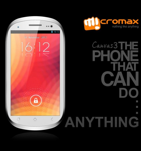 Micromax Canvas 3 Render Done by Ram Bahadur Diwan
