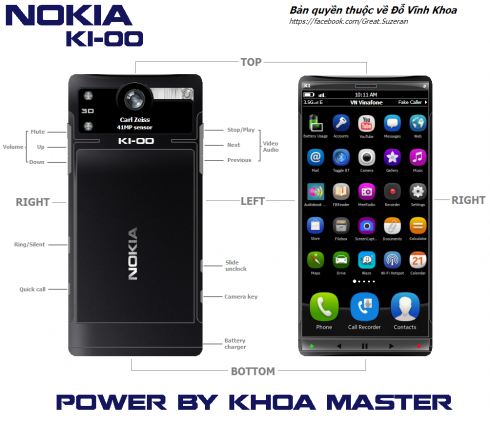 Nokia K1 00 Phablet Uses a 5.9 Inch Display, Has a Very Cool Back Design