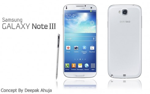 Samsung Galaxy Note 3 by Deepak Ahuja Has Realistic Specs