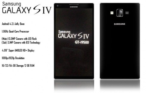 Samsung Galaxy S IV Mockup by Deepak Ahuja Borrows from the Galaxy S II