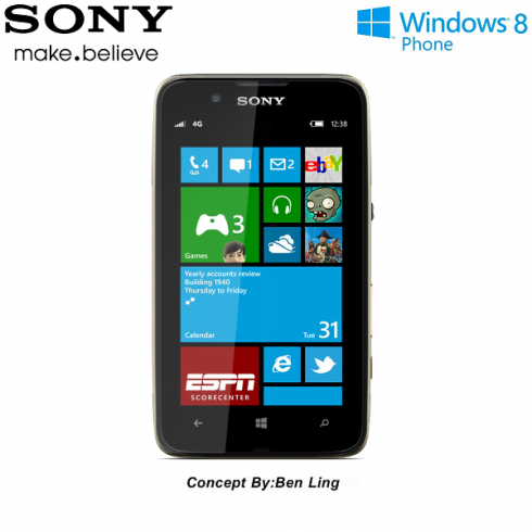 Sony Windows Phone 8 Device Created by Ben Ling