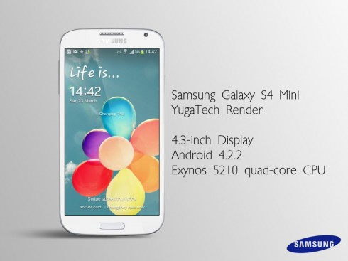 Samsung Galaxy S4 Mini Rendered by YugaTech; Comes With Exynos 5210 SoC