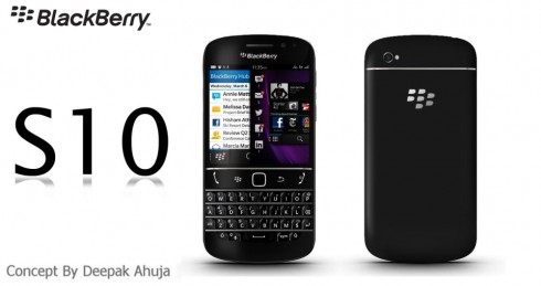 BlackBerry S10 Render by Deepak Ahuja