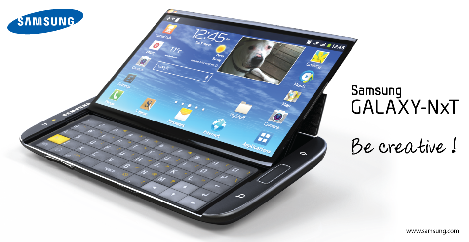 Samsung Galaxy NxT Phablet Features a Sliding Keyboard, Looks Great ...