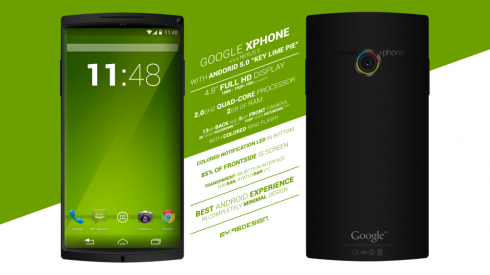 Google X Phone Aka Nexus 5 is the Latest Android 5.0 Key Lime Pie Handset