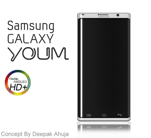 Samsung Galaxy Youm Flexible Display Phone Gets Rendered, Specced