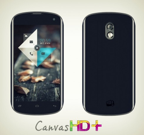 Micromax Canvas HD+, Brand New Phone Mockup for India
