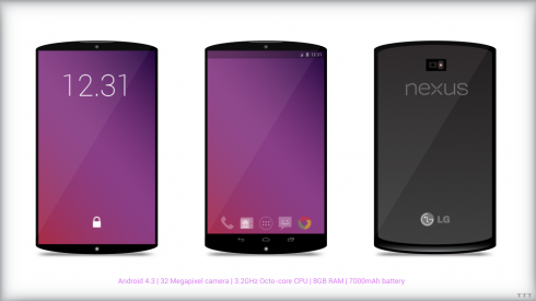 Nexus 5 Concept Has Huge Battery, 8 GB of RAM and 32 MP Camera