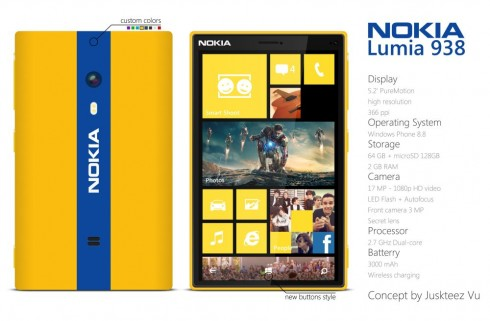 Nokia Lumia 938 is Close to a Phablet Definition, at 5.2 Inches in  Diagonal