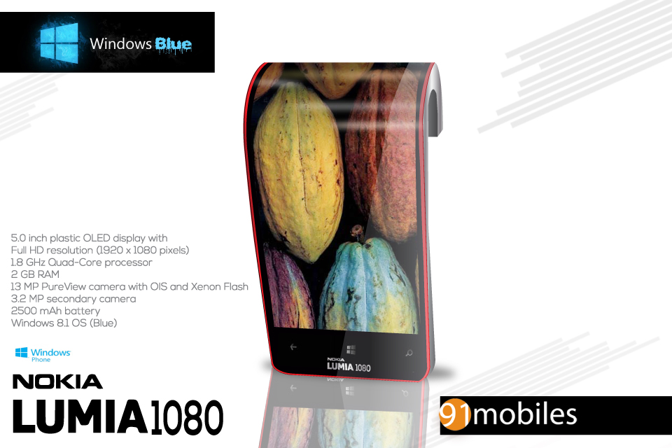 Nokia Lumia 1080 is the Phone on Your Wrist, runs Windows ...