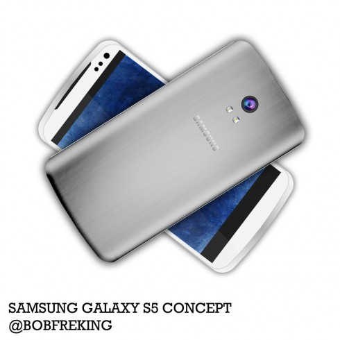 Samsung Galaxy S5 By Bob Freking is Ready! Aluminum Back, 64 GPU Cores (Video)