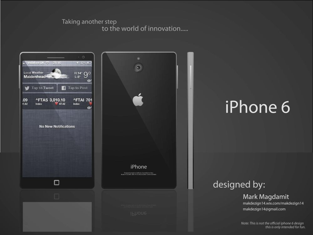 Superior Iphone 6 Home Button Design Part - 10: IPhone 6 Wide Concept