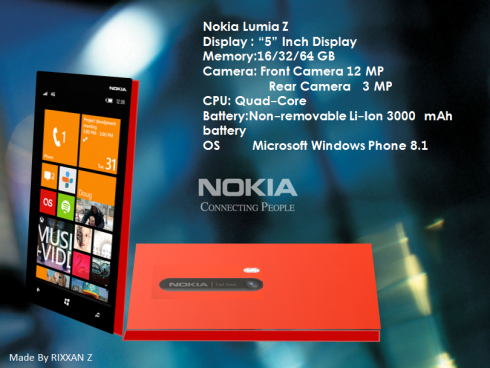 Nokia Lumia Z is a 5 inch Smartphone with Windows Phone 8.1
