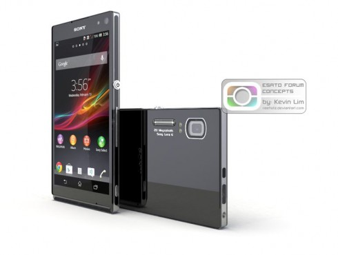 Sony Xperia Honami Rendered by Reeflotz, Inspired by Cybershot TX200V