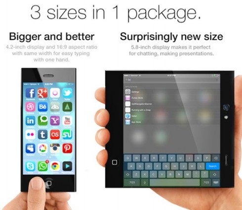 iPhone 6 Mockup Uses Foldable Screen to Turn Into Tablet