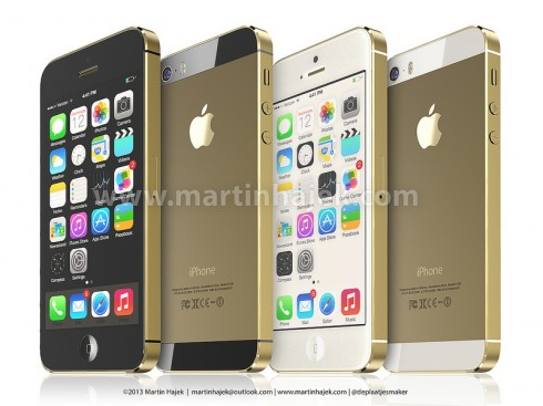 Martin Hajek Has it All Figured Out: Gold iPad 5, Gold iPhone 5S and iPhone 5C Rendered