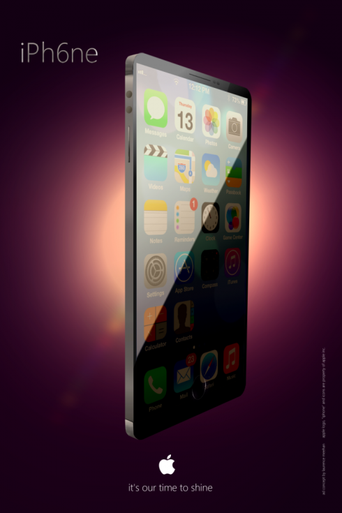 iPhone 6 Render Features Edge to Edge Screen, Big Metal Case
