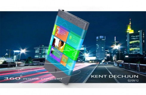 Futuristic Smartphone Features Wraparound Screen With 3D Visuals
