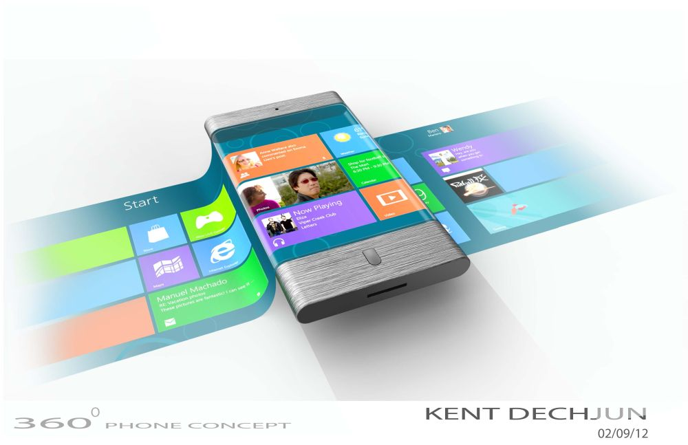 Futuristic Smartphone Features Wraparound Screen With 3D ...