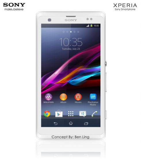 Sony Xperia T1 Concept Follows in the Footsteps of Z1