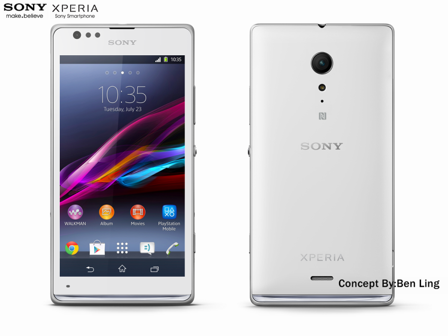 Case Design metal case mobile phones : Sony Xperia S1 Rendered by Ben Ling : Concept Phones