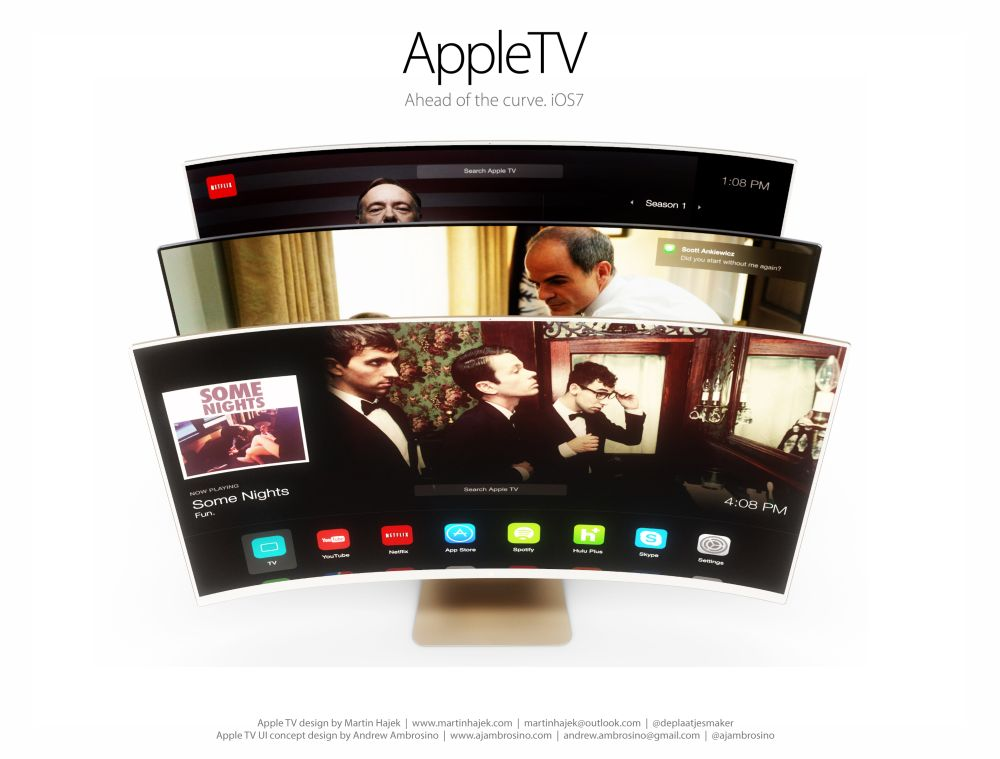 Apple Concept Phones Apple tv ui Concept 1