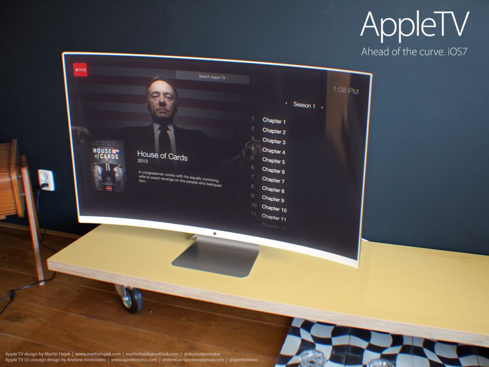 Apple Concept Phones Apple tv ui Concept 3