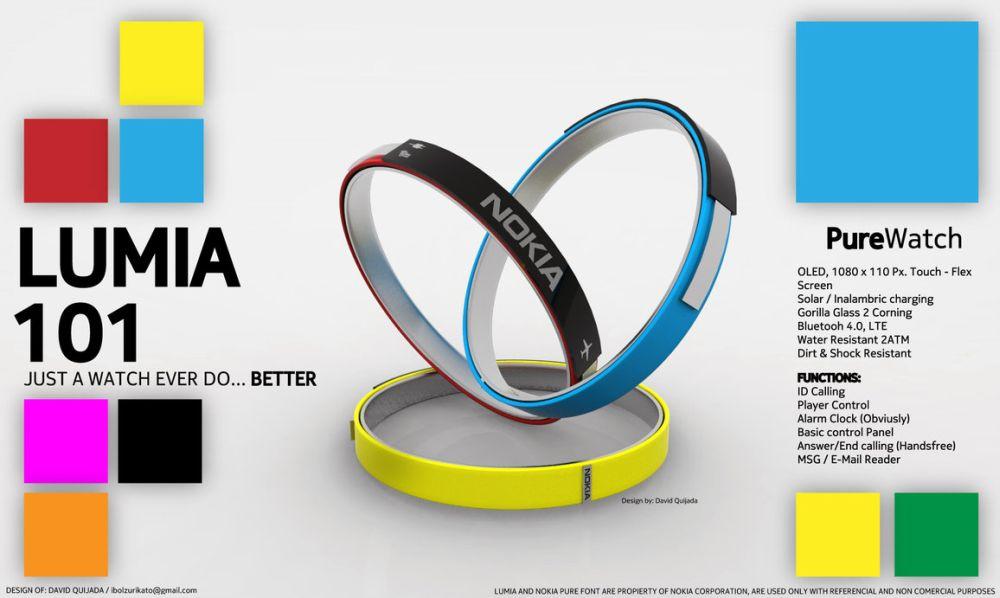 Nokia Lumia 1625 Nokia Lumia 101 Smartwatch is