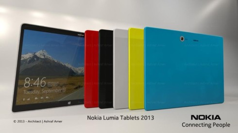 Nokia Windows 8 Tablet Design by Ashraf Amer Features a 12 Inch Screen (Video)